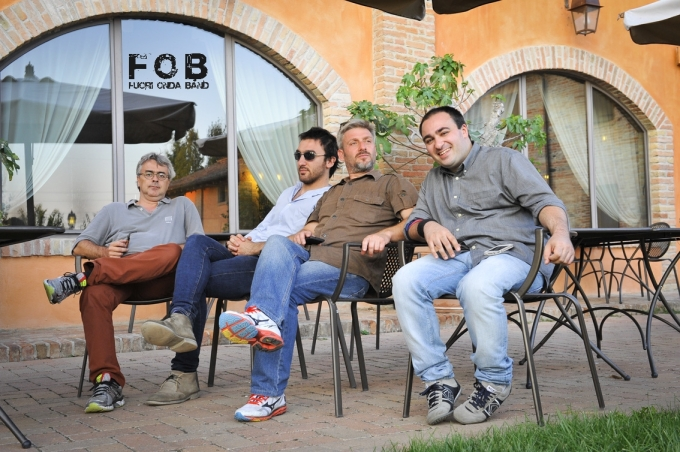 La band: da sinistra Roberto Morelli, Lorenzo Favero, Ugo Rivioli, Lorenzo Tanzi